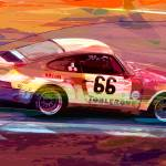 """Porsche 911 Racing"" by DavidLloydGlover"