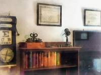 Eye Doctor's Office With Diploma