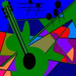"""""""Trisha Blue Water Absract Guitar By Patricia A. Lo"""" by trishabluewater"""