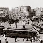 """""""View West up Market Street from Ferry Building, c."""" by worldwidearchive"""