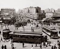 View West up Market Street from Ferry Building, c. by WorldWide Archive