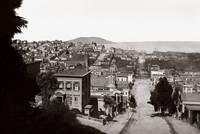 View down Broadway St. to North Beach, c.1880