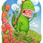 """Valentines Velociraptor"" by GinaPerry"