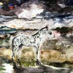 """Appaloosa Spirit Horse Contemporary Art"" by GinetteCallaway"