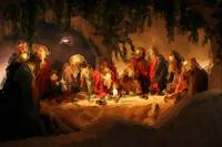 Last Supper Watercolor