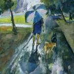 """Two Dogs Unumbrelled"" by Lelia"