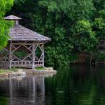 """River Gazebo Summer Morning"" by TealWingPhotography"