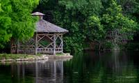 River Gazebo Summer Morning