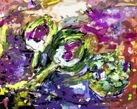 Abstract Artichokes by Ginette