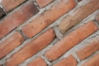 Angled Adobe Bricks Mortared