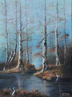 FOG ON THE BAYOU-LOUISIANA SWAMP KIP HAYES ART