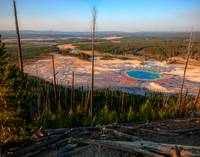 Firehole River with the Grand Prismatic Spring