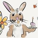 """Rabbits bring cupcakes"" by pauldunford"