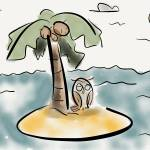 """Victor naps on an island"" by pauldunford"