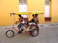 Bicycle Taxi in Cuba