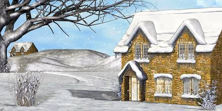 Winter Wonderland 2 Folk Art Digital Painting