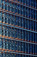 Abstract Architecture in Blue.