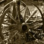 """Vintage Wagon Wheels"" by LJdesigns"