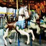 """Carousel Horses"" by susansartgallery"