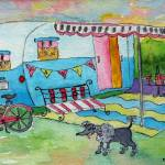 """Vintage Dream Camper - Ma Petite Maison Mobile"" by MarcyBrennanArt"
