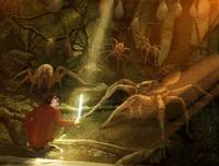 Bilbo and the Spiders of Mirkwood