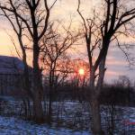 """Barn with Sunrise 12x18  3 31 2010"" by cre8ivepix"