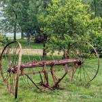 """Old Farm Hay Rake 2012 12x18"" by cre8ivepix"