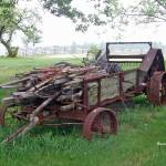 """Old Farm Manure Spreader 12x18"" by cre8ivepix"