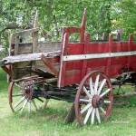 """Old Farm wagon 12x18"" by cre8ivepix"