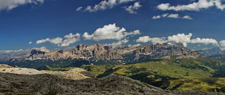 The Dolomites above Corvara