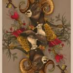 """""""AstroBotanical Playing Cards: king of hearts"""" by 14"""