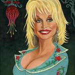 """Portrait of Dolly Parton"" by 14"