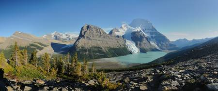 Panoramic view on Mount Robson