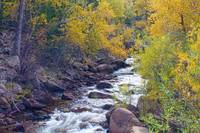 St Vrain Canyon and River Autumn Season Boulder Co
