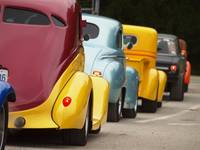 Hot rods all lined up