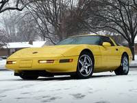 Corvette in the snow