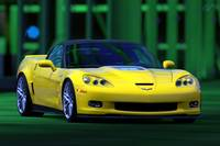Chevy Corvette C6 ZR1 yellow PS3 GT5