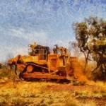 """Bulldozing in the Pilbara Region WA"" by MikeNichol"