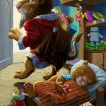 """father christmas lion delivering presents"" by martindavey"