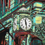 """marshall fields clock Chicago"" by pietrastone"