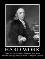 Benjamin Franklin - Hard Work
