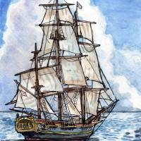 HMS Bounty Art Prints & Posters by Angela Cosenzo