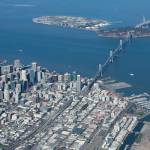 """San Francisco Bay Bridge Aerial Photograph"" by JohnDaly"