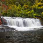 """Hooker Falls in Autumn - Dupont State Forest NC"" by DAPhoto"