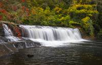 Hooker Falls in Autumn - Dupont State Forest NC