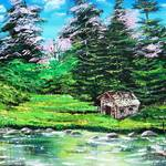 """Cabin by the Pond"" by galina"