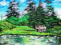 Cabin by the Pond