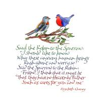 Said the Robin to the Sparrow Art Prints & Posters by Martha Lever