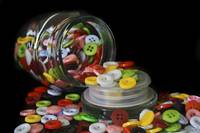 Glass Button Jar