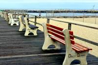 benches of the boardwalk